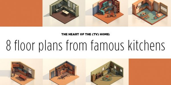 The Heart of the (TV) Home: 8 Floor Plans from Famous Kitchens