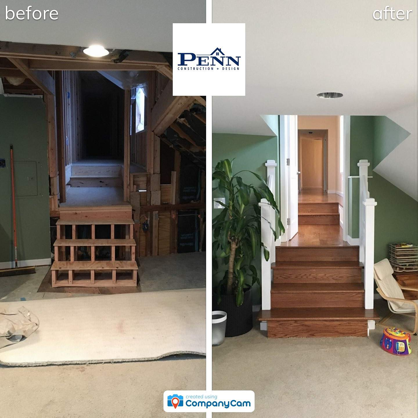Before After Renovations Penn Construction Design
